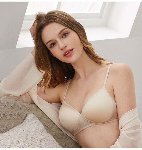 100% Natural silk Sexy Bras for Women Push Up Lingerie Seamless Bra Bralette Wire Free Brassiere Female Underwear Intimates