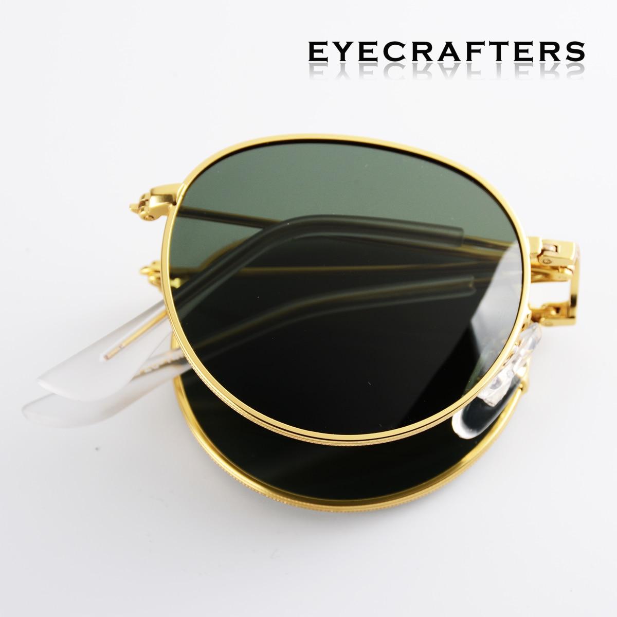 2020 Portable Foldable Folding Sunglasses Polarized Mens Womens Fashion Retro Vintage SunGlasses Driving Mirrored Eyewear 3532