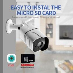 HD Wi-Fi IP-камера 1080P 5 Мп ONVIF Беспроводная Проводная цилиндрическая камера видеонаблюдения наружная Двухсторонняя аудиосвязь слот для TF-карты ...