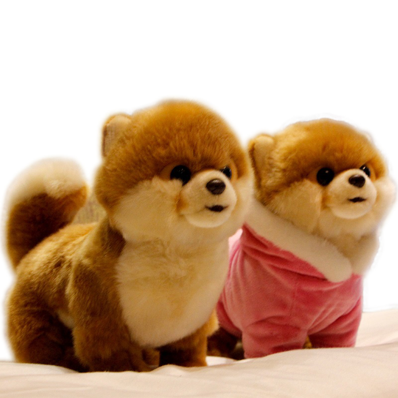 Hot Quality Realistic Pet Animals Plush Toy Mini Pomeranian Maltese Dog Shiba Inu Doll For Kids Girl Gift Decoration