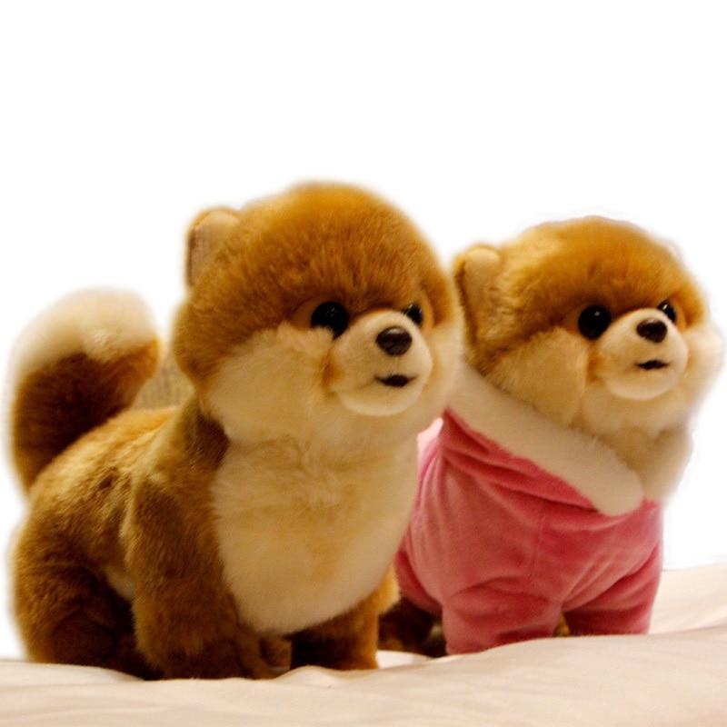 Hot Quality Realistic Pet Animals Plush Toy Mini Pomeranian Maltese Dog Shiba Inu Doll For Kids Girl Gift Decoration