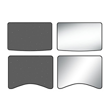 Roof Sunroof Cover Window Sun Shade Coated Cloth Set for Tesla Model 3 Y