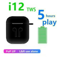 i12 TWS Wireless Headset Touch Key Bluetooth 5.0 Sport Earphone Stereo For iPhone Xiaomi Hu
