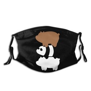 Многоразовая маска для лица Bear Panda со сменными фильтрами PM2.5, неодноразовая маска с защитой от дымки, респиратор с муфелью