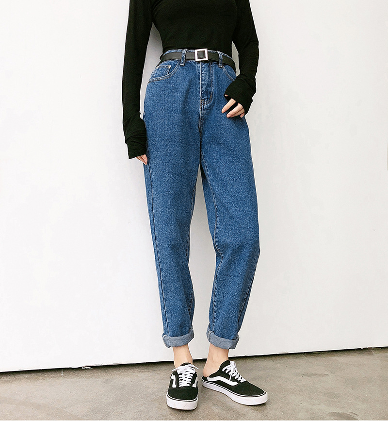 High Waist Jeans Women's Loose-Fit Harem Pants Loose Pants 2019 Jiang Thin Film Celebrity Style Non-Elasticity Dad Trousers Fash