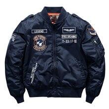 Jaqueta de alta qualidade de alta qualidade do exército grosso branco da marinha militar da motocicleta ma-1 piloto de aviador