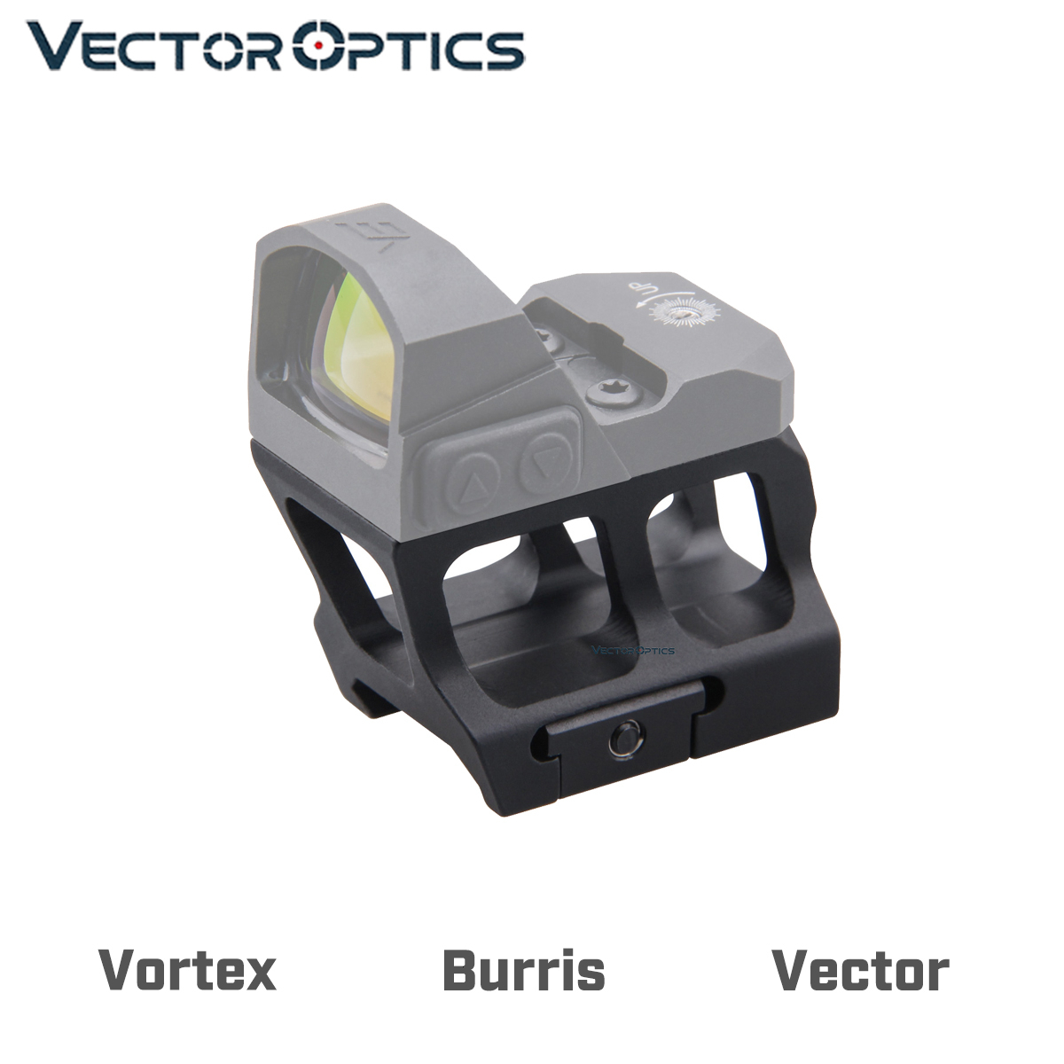 Vector Optics Red Dot Scope Pistol Mini Sight Tactical Riser Picatinny Mount Absolute Co-witness Fits V.T. Burr1s Vector