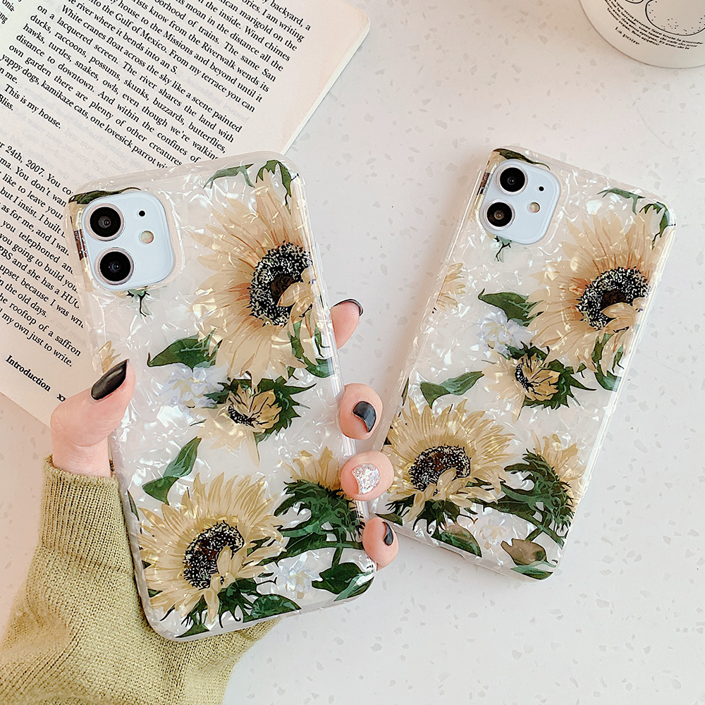 LOVECOM Retro Floral Ring Stand Phone Case For iPhone Models 48