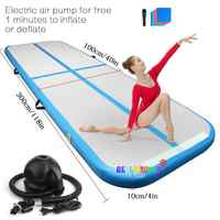 2019 New Airtrack 3m 4m 5m Inflatable Air Tumble Track Olympics Gym Mat Yoga Inflatable Air Gym Air Track Home use On Sale