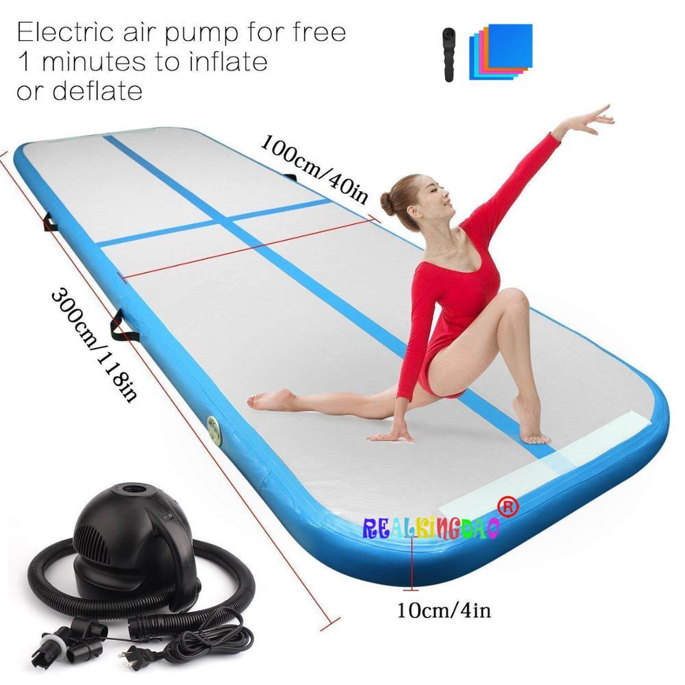 2019 nuevo Airtrack 3m 4m 5m inflable pista de caída de aire Olimpiadas estera de gimnasio Yoga inflable Air Gym pista de aire uso en casa en venta