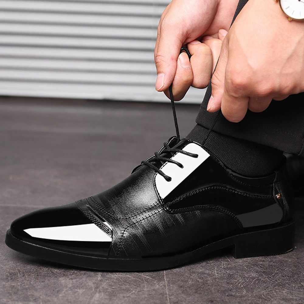 Handmade ของแท้สิทธิบัตรหนังและ Nubuck หนัง Patchwork กับ Bow Tie ผู้ชายสีดำรองเท้าผู้ชายจัดเลี้ยง Loafers