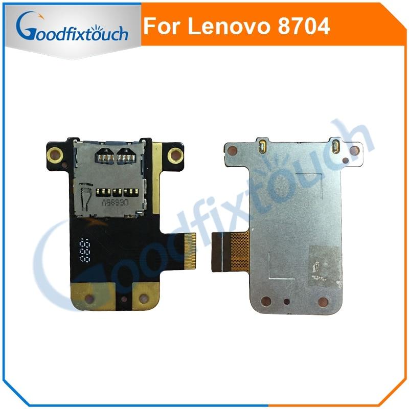Sim Card Slot Flex Cable For Lenovo Tab 4 8 Plus 8704 Tb 8704 Sim Card Reader Connector Slot Tray Holder Flex Cable Ribbon Mobile Phone Flex Cables Aliexpress