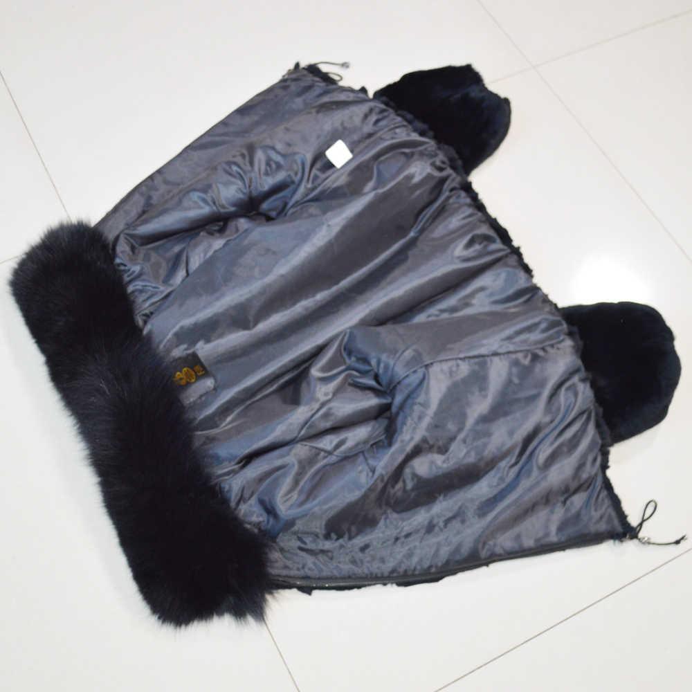 Yeni Stil Kadın Kış sıcak Yumuşak Kaliteli Gerçek Rex Tavşan Kürk Ceket Rex Tavşan Kürk Kısa Ceket Büyük Gerçek Tilki kürk Yaka Palto