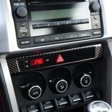 Konsola środkowa naklejka ramka z włókna węglowego zewnętrzna osobista dekoracja części samochodowych dla Toyota 86 Subaru BRZ 2013-2017