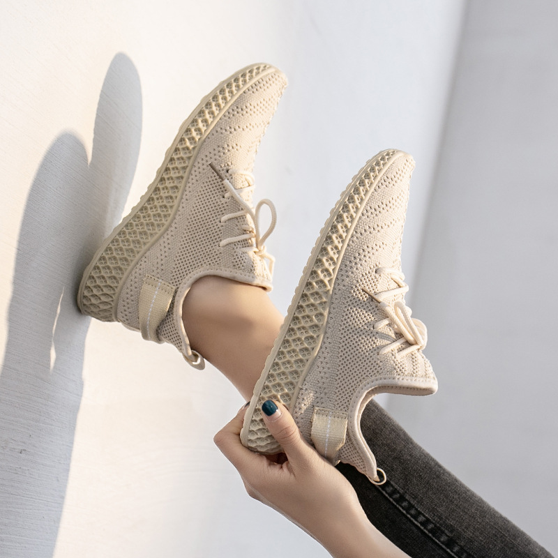 2020 Spring Breathable Women Sneakers Mesh Air Light Low Cut Sports Casual Shoes Woman Running Shoe 4h17