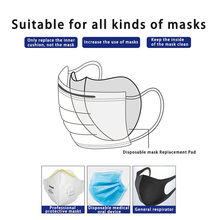 50pcs 3 Layers Disposable Mouth Mask Gasket Anti Dust Haze Mask Mat Filter Cotton Core Replaceable Breathable Isolation Pad#g3(China)
