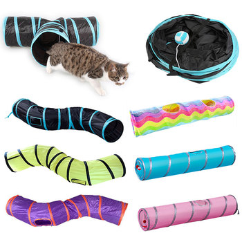 2/3/4/5 Holes Pet Cat Tunnel Toys Foldable Pet Cat Kitty Training Interactive Fun Toy For Cats Rabbit Animal Play Tunnel Tube