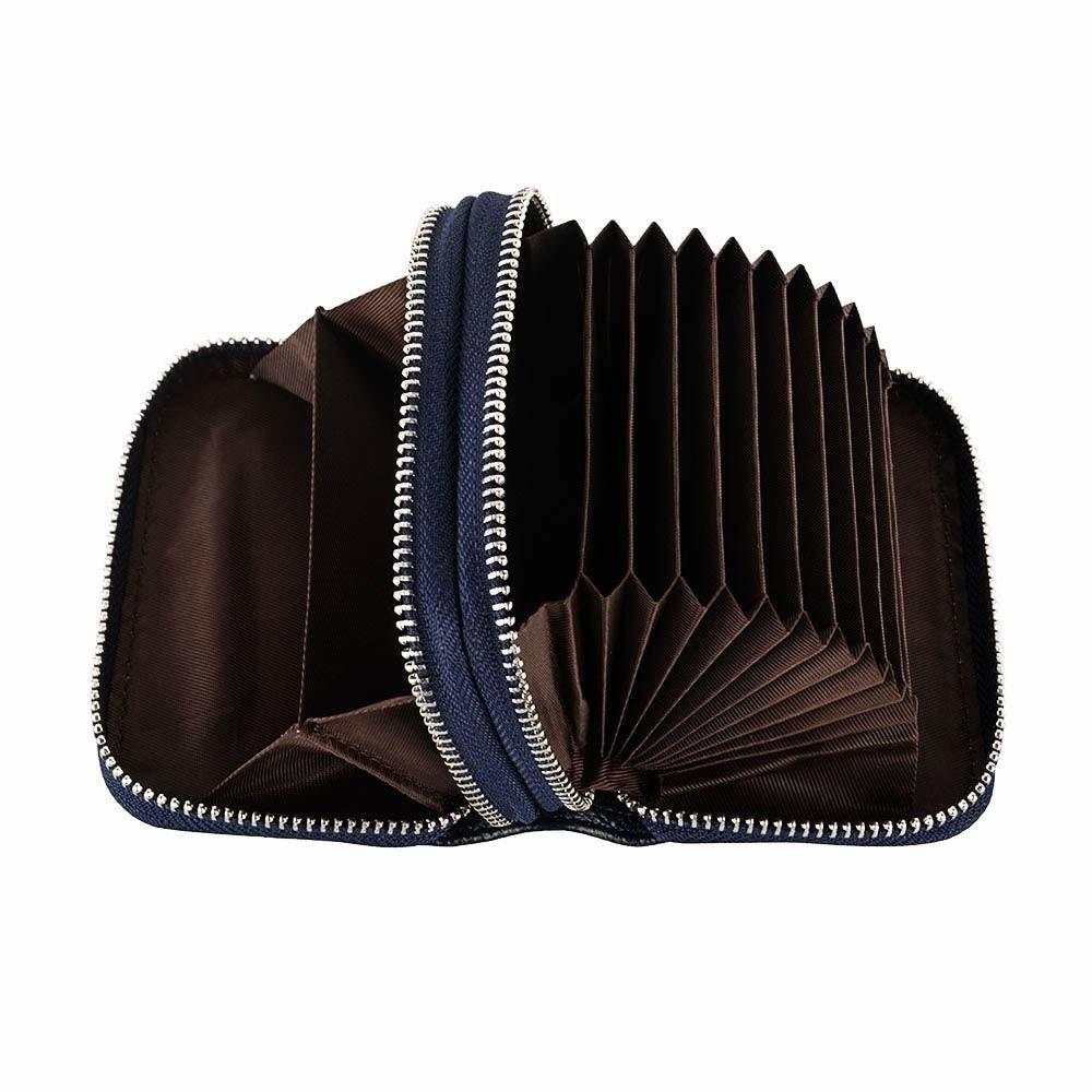 Женский кошелек на молнии из натуральной кожи с RFID-защитой