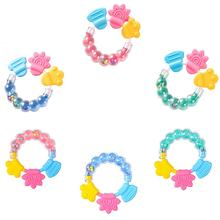 Baby Cartoon Rattle Teether Handmade Pacifier Clips Holder Chain Silicone Pacifi