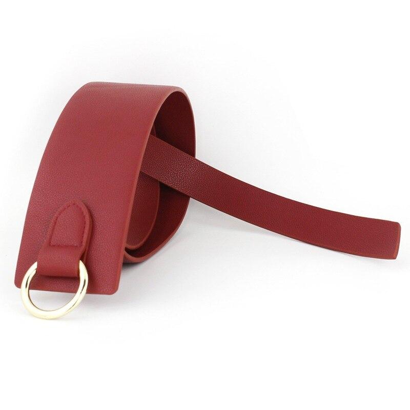 jog casual tie lady leather female pin. Korean version fine belt Leather needle fastener