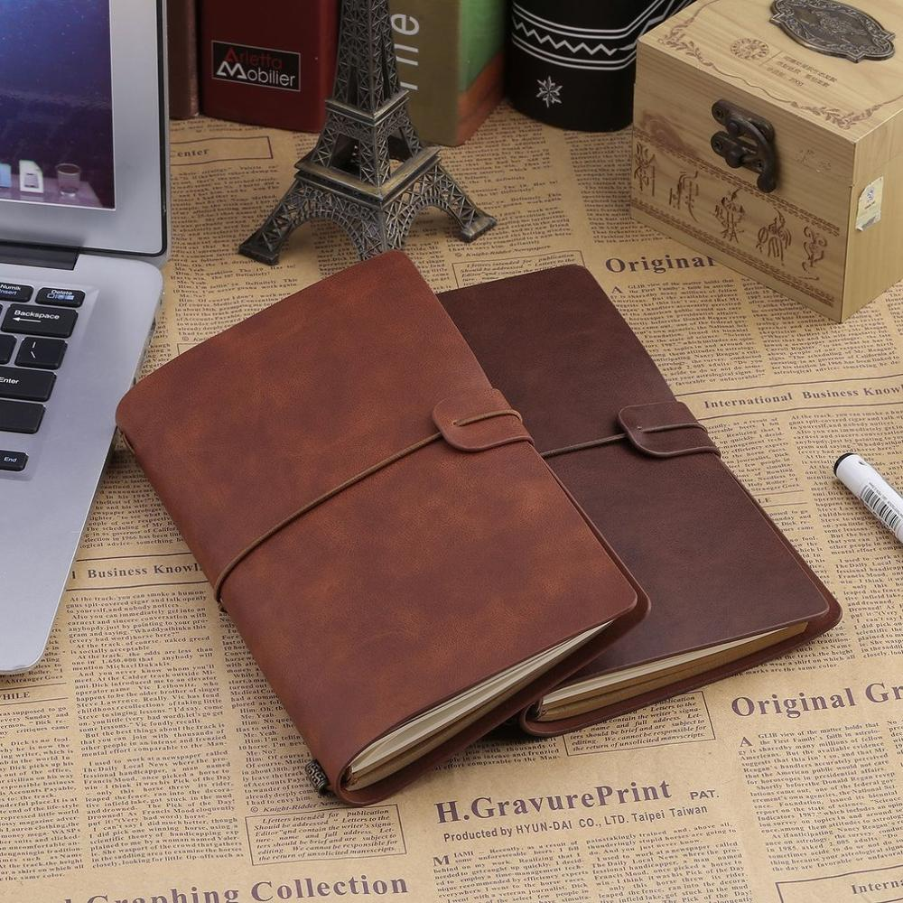 Portable Students School Vintage Writing Notebook Business Travel Diary Outdoor Journal Planner Agenda DIY Birthday Gift