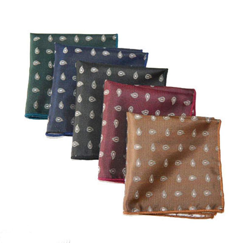 Luxury  Men's Vintage Floral Paisley Silk Handkerchief Pocket Square Fashion Men Hanky For Wedding Party Chest Towel