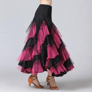 Image 2 - New Women Waltz Salsa Rumba Skirts Ballroom Dance Costume Skirts Women Ballroom Dancing Skirts Spain Dancing Performance