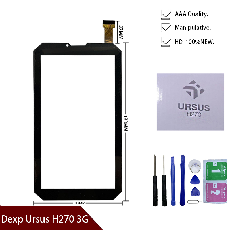 7'' Inch Tablet Touch Screen For Dexp Ursus H270 3G Tablet Touch Screen Digitizer Glass Repair Panel Dexp Ursus H270 Armor