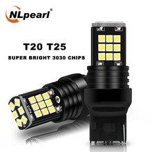 Nlpearl 2x信号ランプ7440 W21W W21 5ワット7443 T20 led電球3030SMD 3157 led T25 3156 P27W P27/7ワットパーキングライトリバースランプ12v