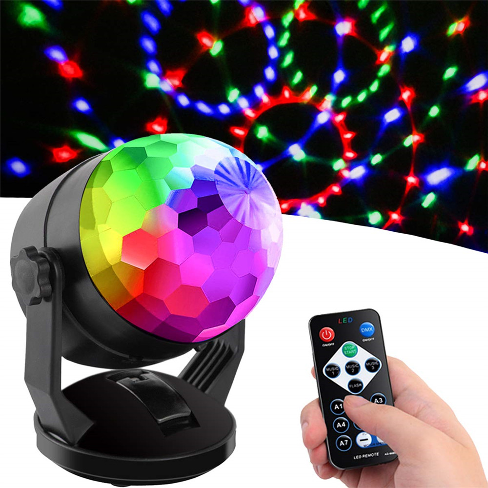 Sound Activated Disco Party Lights Battery Powered/USB Plug In LED Stage Lights Laser Lamp For Car Room Dance Christmas Wedding