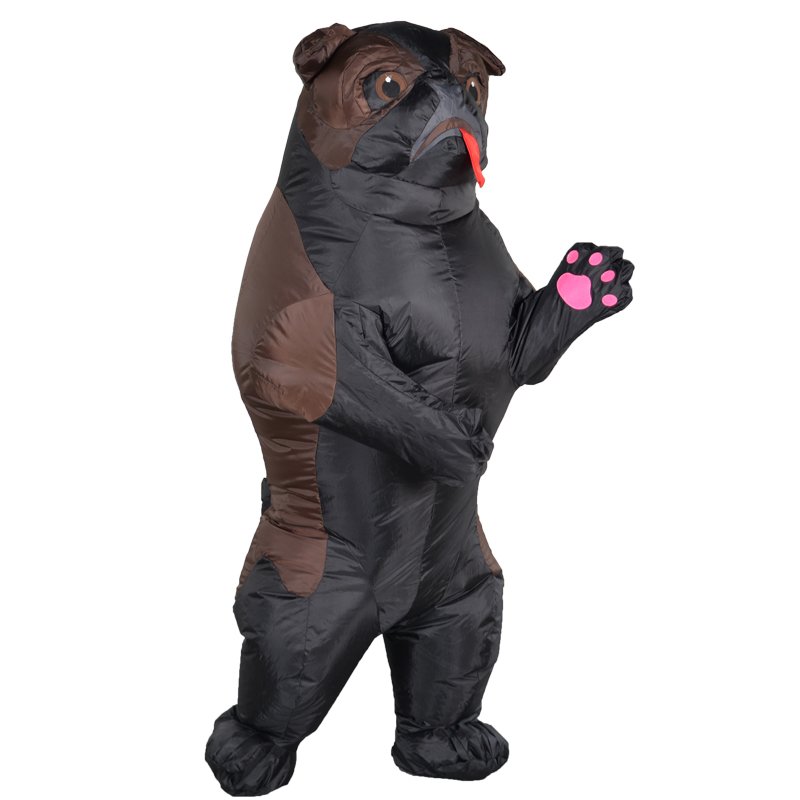 Inflatable Pug Dog costume Cosplay Funny Air Blow Up Shar Pei Suit Party costume Fancy Dress Halloween Costume for Adult