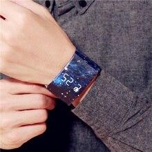Wodoodporna opaska na nadgarstek zegarek papierowy przystojny zegar LED zegarek kreatywny cyfrowy pasek na papier zegarki zegarek sportowy zegarek