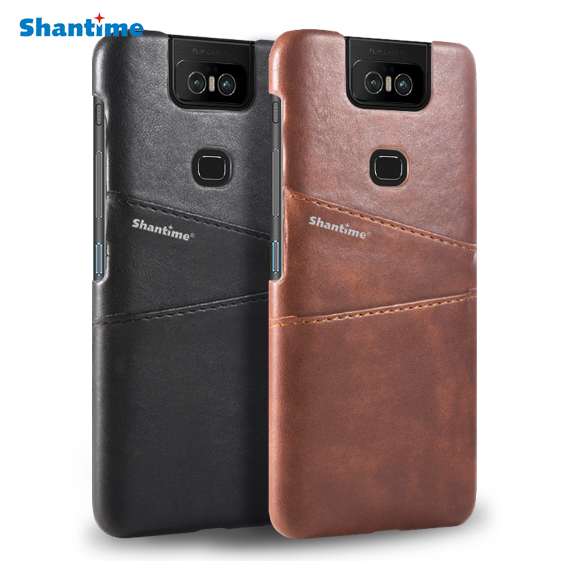 PU Leather Back Cover For <font><b>Asus</b></font> <font><b>Zenfone</b></font> <font><b>6</b></font> ZS630KL Phone <font><b>Case</b></font> For <font><b>Asus</b></font> <font><b>Zenfone</b></font> <font><b>6</b></font> <font><b>2019</b></font> Card Slot <font><b>Case</b></font> For <font><b>Asus</b></font> <font><b>Zenfone</b></font> 6z Cover image
