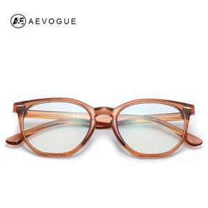 Image 2 - AEVOGUE gafas de protección contra luz azul para hombre y mujer, anteojos ópticos con montura graduada, gafas poligonales AE0787