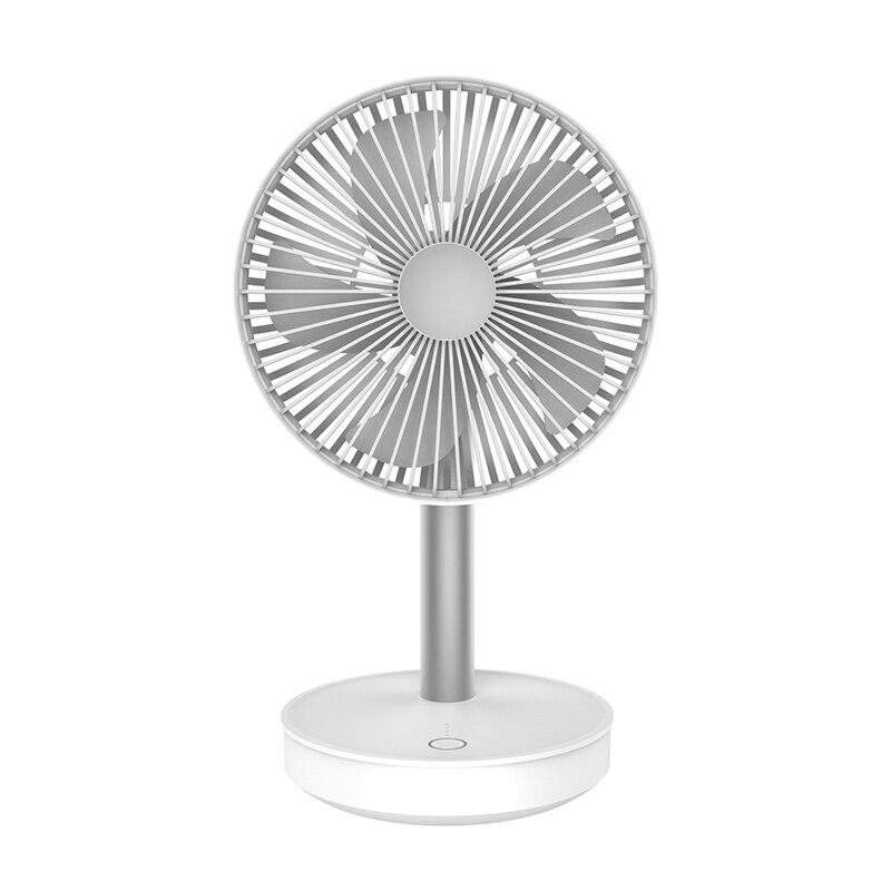 Ev Aletleri'ten Fanlar'de Soğutma fanı 3 Speed ayarlanabilir taşınabilir Mini el fanlar 4000Mah şarj edilebilir mikro Usb masası hava soğutma fanı beyaz title=