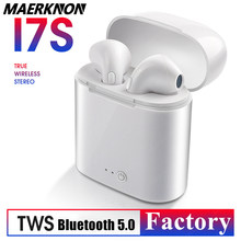 I7s tws fones de ouvido bluetooth fones de ouvido para vagens de ar todo o suporte do telefone inteligente redução de ruído venda quente sem fio fones de ouvido in-ear