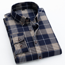 2019 Brand Men Shirt Quality Casual Plaid Spring luxury plaid Dress Shirts Fashion Long Sleeve Slim Fit  shirt men