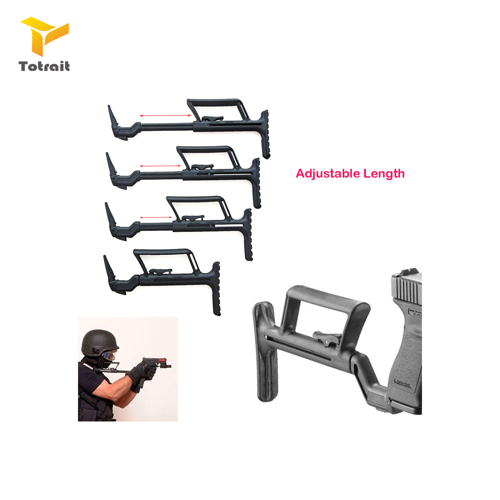 TOtrait Auxiliary Adapter Fit For Glock Airsoft Pistol Carbine Conversion Stability Handle Support Buttstock Carbine Accessories