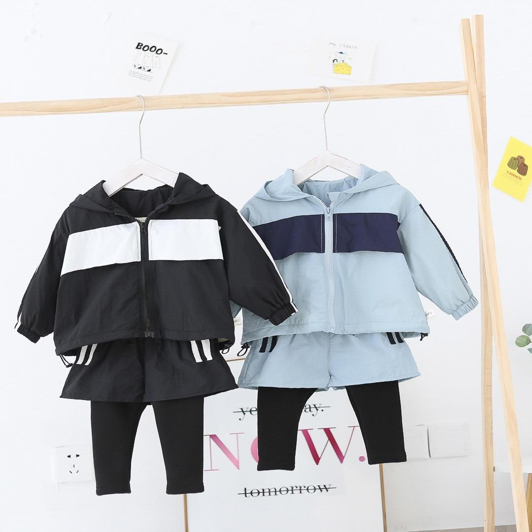 WLG/Бархатный осенне-зимний костюм из 2 предметов для маленьких мальчиков и девочек теплая детская одежда