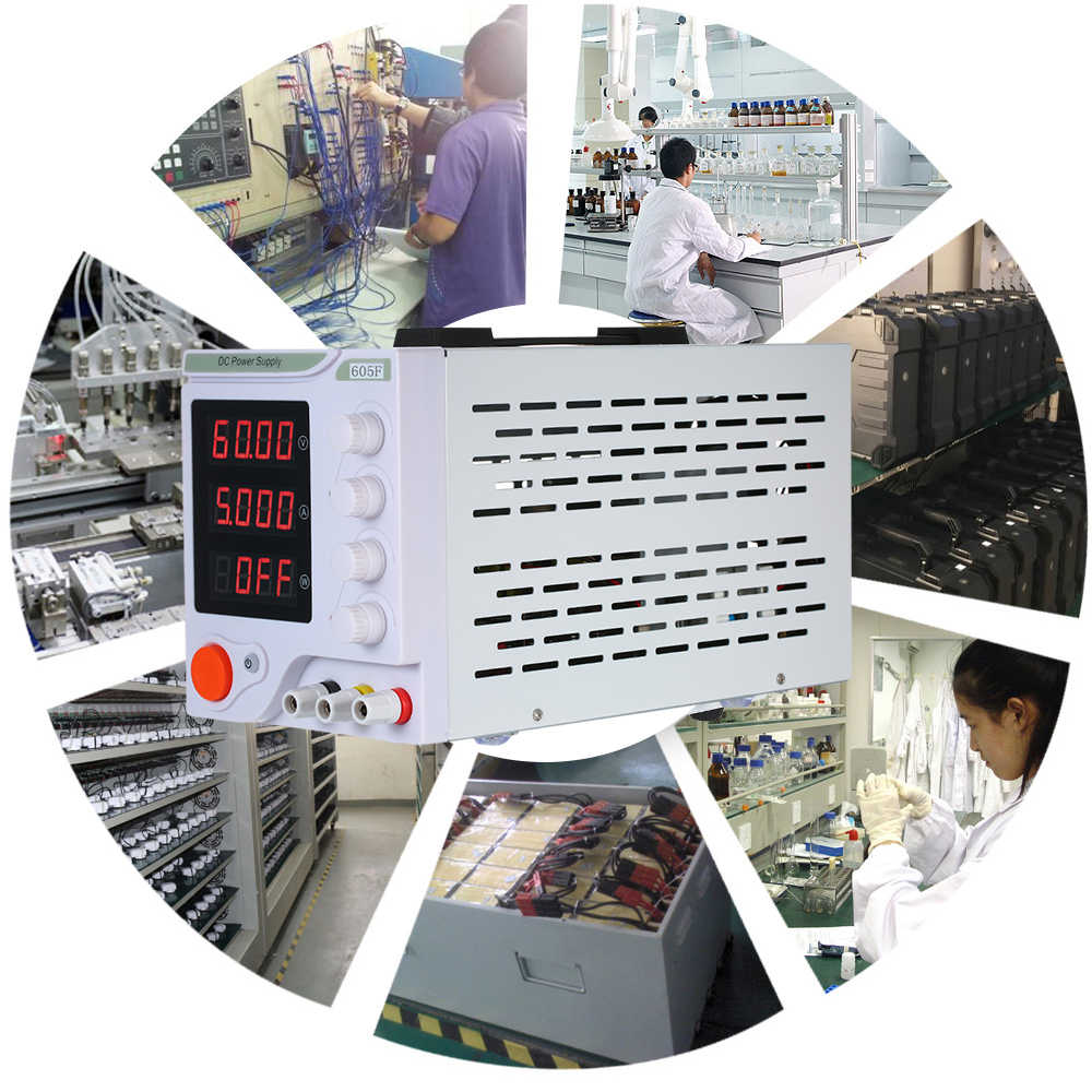 605F 0-60V 0-5A Mini DC Power Supply 4 cyfry wyświetlacz LED pojedynczego kanału liniowy DC moc materiały z dostaw stabilizowane napięcie