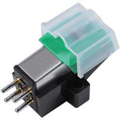 Gramofone antiestático de fibra carbono record player stylus 13mm pitch registro cartucho vinil stylus agulha para at95e vinil registro p
