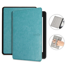 Luxury Leather Cover for Amazon Kindle Paperwhite 4 , Case for PQ94WIF Funda Kindle Paperwhite 2018 +Handstrap gift Film+pen