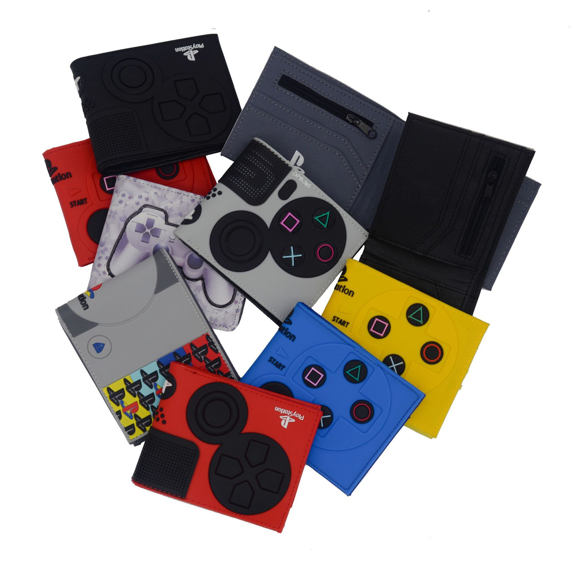Game Handle Playstation Wallet PS1 Shape Coin Purse With Card Holder For Man Bi-Fold Coin Purse ID Card Holder PVC Short Wallet