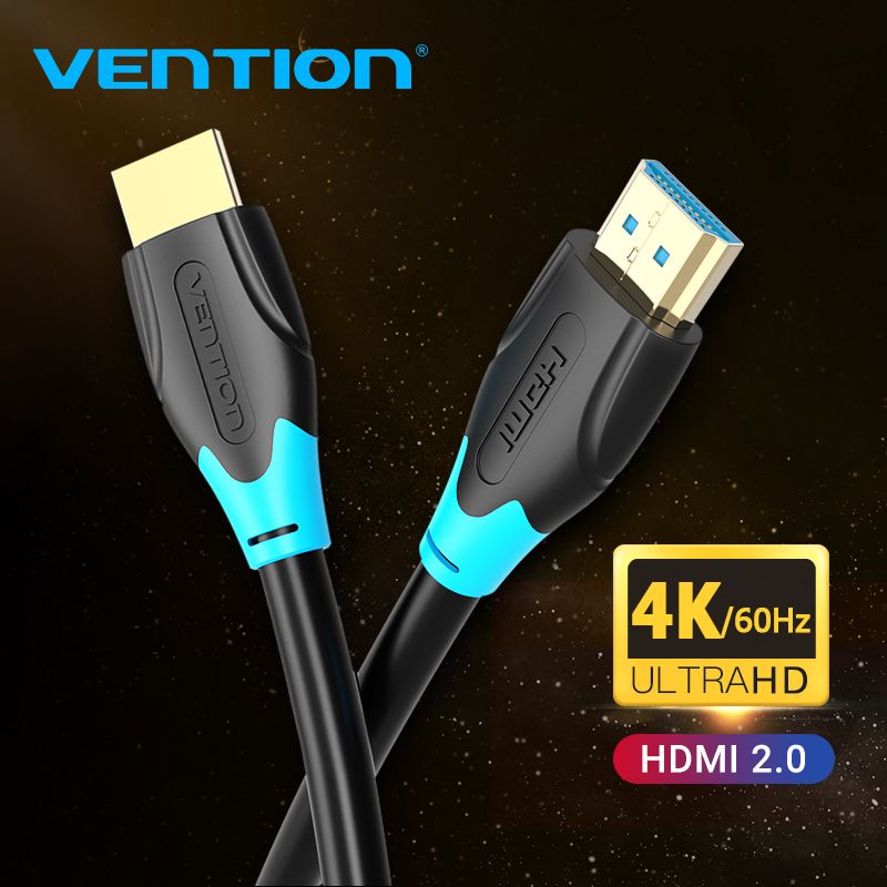 Vention HDMI Cable HDMI 2.0 Cable 4K 60Hz HDMI to HDMI Extender Cable for Switch PS4 Television TV Box Video Audio Cable HDMI(China)