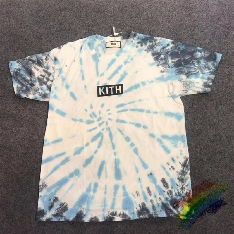 Kith T Shirt Tie Dyeing High Quality 19fw Kith Men Women T Shirts