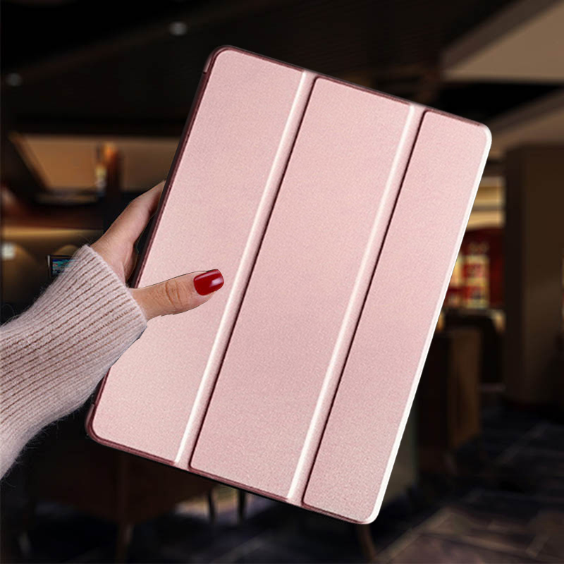 Rose gold White Tablet Case for iPad 7th 8th Generation Leather Stand Cover Apple iPad 10 2 2019 A2197