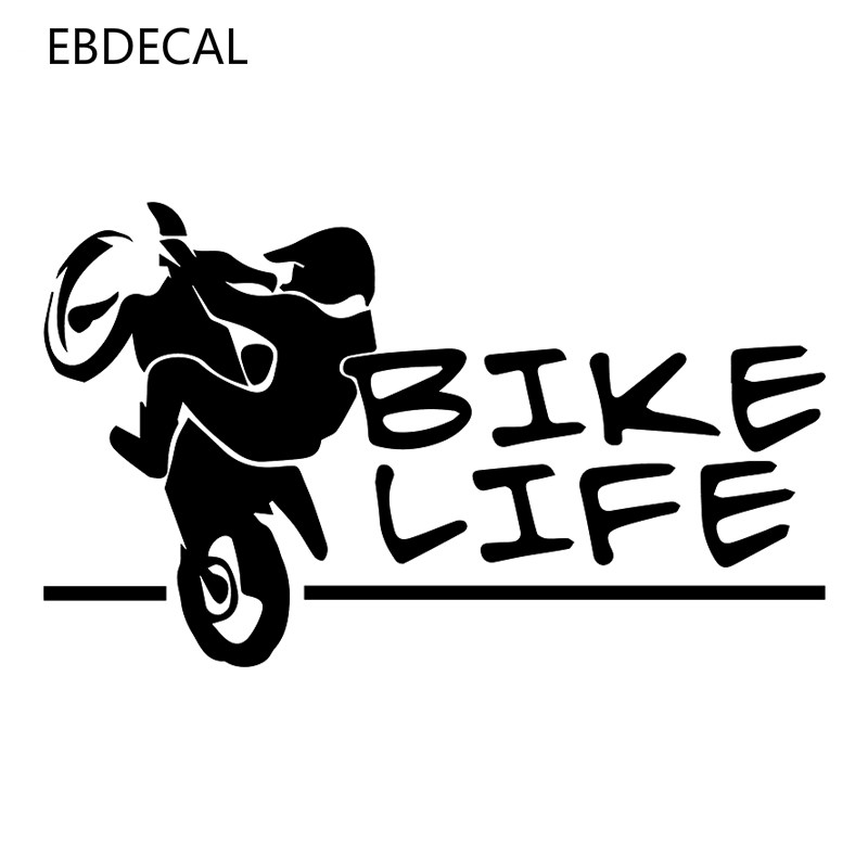 <font><b>bike</b></font> life Vinyl Reflective Laser Luminous Motorcycle Car <font><b>Sticker</b></font> Decal Windows Wall Suitcase EBdecal CT12113 image