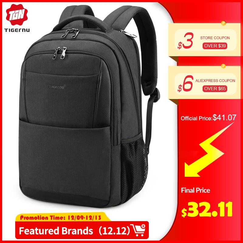 Tigernu Men Backpacks Anti Theft USB Charging 15.6 Laptop Bag Mochilas Escolar Feminine Male Bagpack Notebook College Schoolbag
