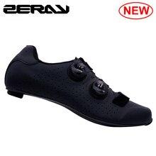 ZERAY de fibra de carbono bicicleta de carretera Zapatos de ciclismo de carretera para la zapatilla de deporte de los hombres E115 ultraligero de auto-bloqueo zapatos atléticos profesionales
