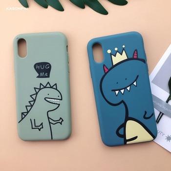 Fashion Peach Avocado Fruit Soft TPU Phone Case For iPhone Cartoon Cute Dinosaur Cover 4